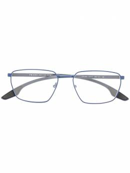 Prada Eyewear очки в прямоугольной оправе с логотипом PS52MV