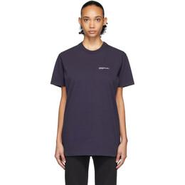 A.P.C. Navy JJJJound Edition Logo T-Shirt COEAV-H26851