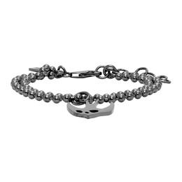 MCQ by Alexander McQueen Gunmetal Swallow Bracelet 597466R1J99