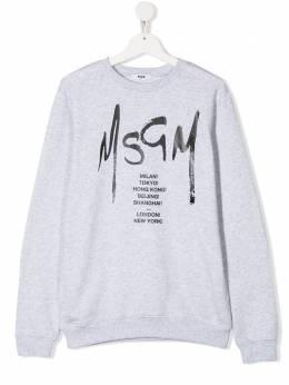 MSGM Kids толстовка с логотипом 022082101