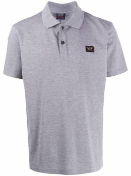Paul & Shark рубашка-поло с нашивкой-логотипом C0P1000