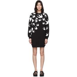 MCQ by Alexander McQueen Black Swallow Sweatshirt Dress 379194RLT72