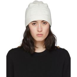 Givenchy White Knit 4G Beanie BGZ00R G01J