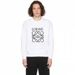 Loewe White Anagram Sweatshirt H6109900CR