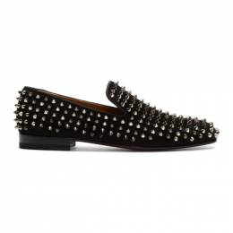 Christian Louboutin Black Suede Rollerboy Spikes Loafers 1120153