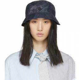 Maison Michel Navy Denim Effect Malo Bucket Hat 2368002001