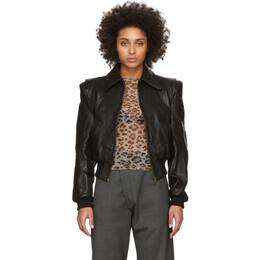 R13 Black Leather Americana Zip Jacket R13W7247-81