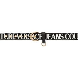 Versace Jeans Couture Black Logo Belt ED8YVBF02 E71446