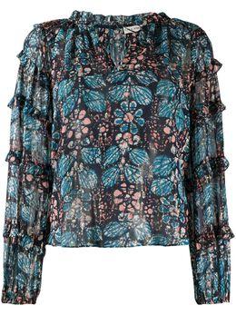 Ulla Johnson блузка Roma с цветочным принтом ROMAPS200223