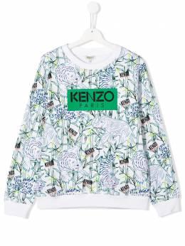 Kenzo Kids толстовка Jake с принтом KQ15598