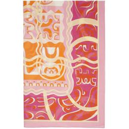Emilio Pucci Orange Printed Long Pareo 0EPD02-0E951