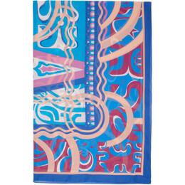 Emilio Pucci Blue Printed Long Pareo 0EPD02-0E951