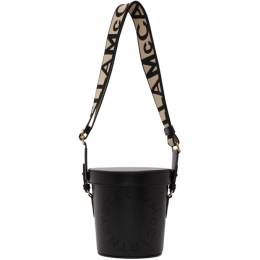 Stella McCartney Black Logo Bucket Bag 700016W8542