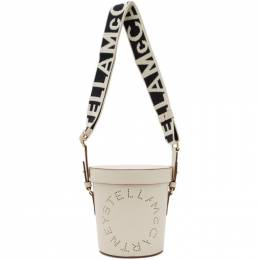 Stella McCartney White Logo Bucket Bag 700016W8542
