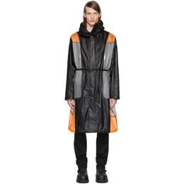 Moncler Genius 6 Moncler 1017 ALYX 9SM Black and Orange Colorblock Cosmos Jacket 32202 - 80 - 54AD2