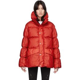 Moncler Genius SSENSE Exclusive 6 Moncler 1017 ALYX 9SM Red Down Eris Jacket 42300 - 00 - 54AD6