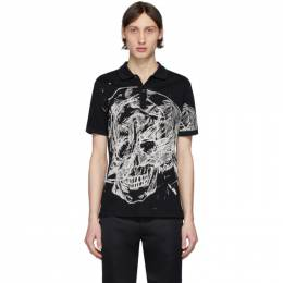 Alexander McQueen Black Skull Print Polo 608636QOZ89