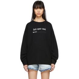 R13 Black Sell Your Soul Sweatshirt R13W3831-01