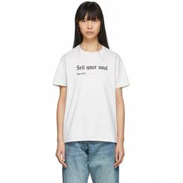 R13 Off-White Sell Your Soul Boy T-Shirt R13W3836-04