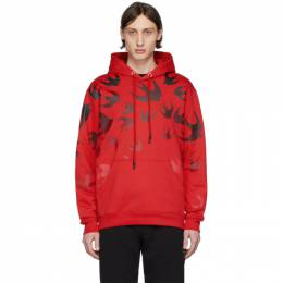 MCQ by Alexander McQueen Red Swallow Hoodie 545412ROT42