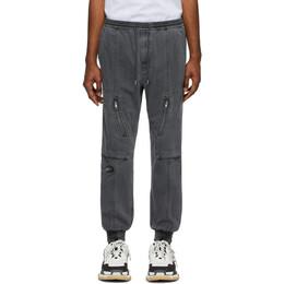 Juun.J Grey Elasticized Cuff Trousers JC0121P714
