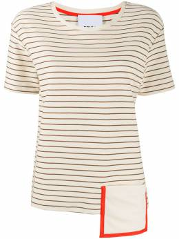 Erika Cavallini футболка асимметричного кроя в полоску P0SF05