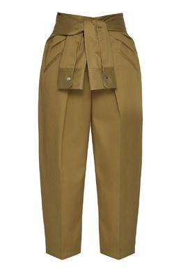 Хлопковые брюки цвета хаки Alexander Wang 367181320