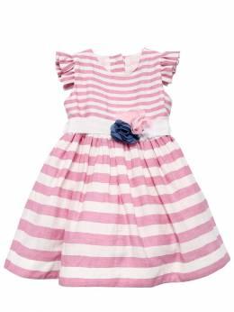 Платье Из Льна С Поясом Monnalisa 71I90A021-OTk5Mw2