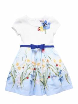 Платье Из Хлопка Поплин Monnalisa 71I90A010-MDA1Mg2