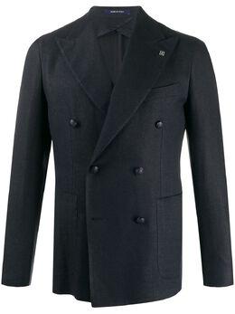Tagliatore двубортный пиджак с заостренными лацканами 34UEZ2411SMC20K