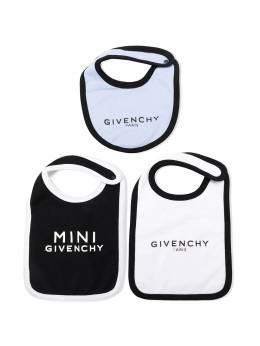Givenchy Kids комплект из трех нагрудников с логотипом H9807077D