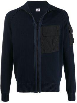 C.P. Company свитер на молнии с карманами 08CMKN111A005367M