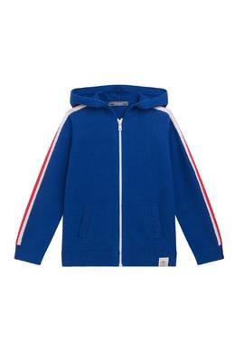 Синяя толстовка с капюшоном Bonpoint 1210181861