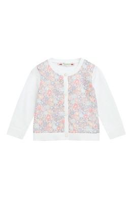Белый кардиган с цветочным принтом Bonpoint 1210181853