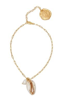Позолоченный браслет с ракушкой и жемчугом Ancient Greek Sandals 537181706
