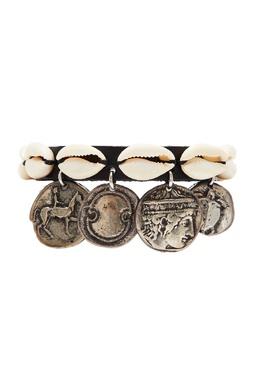Черный кожаный браслет с декором Ancient Greek Sandals 537181700