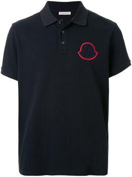 Moncler рубашка-поло с нашивкой-логотипом 8A7040084556