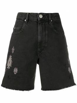 Isabel Marant Etoile джинсовые шорты с эффектом потертости SH031620P019E