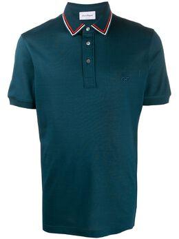 Salvatore Ferragamo рубашка-поло с отделкой в полоску 727110