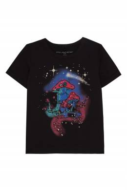 Хлопковая футболка с принтом Stella McCartney 193181582