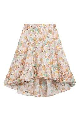 Разноцветная юбка с оборками Bonpoint 1210181974