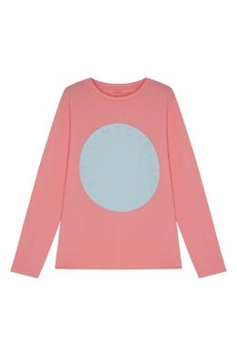Розовый лонгслив из хлопка Stella McCartney 193181578