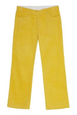 Вельветовые брюки цвета лайма Stella McCartney 193181622