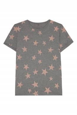 Серая футболка со звездами Stella McCartney 193181617