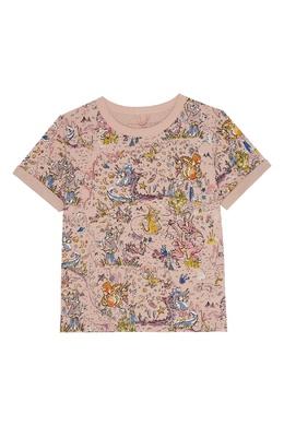 Хлопковая футболка с принтом Stella McCartney 193181615