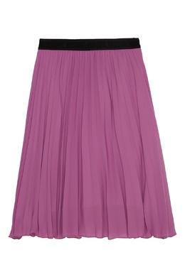 Плиссированная юбка розового цвета MSGM 296181644