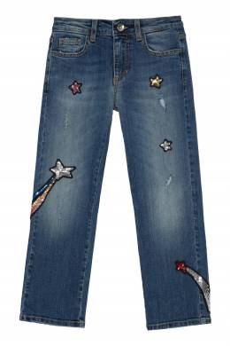 Синие джинсы с нашивками MSGM 296181648