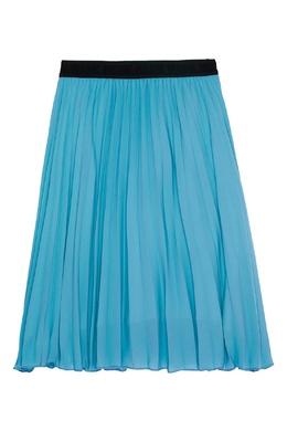 Голубая плиссированная юбка MSGM 296181657