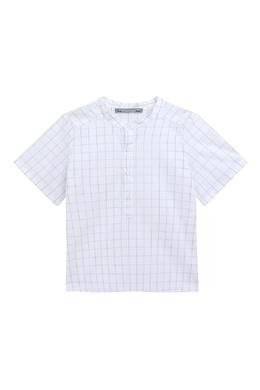 Клетчатая рубашка Bonpoint 1210181930
