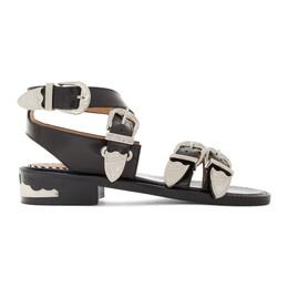 Toga Pulla Black Four Buckle Western Sandals FTGPWJ88509021